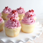 Pomegranate Cupcakes, buttercream, recipe, baking