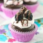 Chocolate Blackberry, Cupcakes, dessert, baking, recipe, creamcheese, frosting, blackberry, ganache