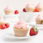 strawberry, cupcakes, buttercream, frosting, recipe, baking, dessert, food