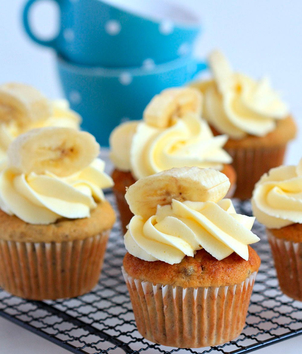 The Most Fabulous Banana Cupcake