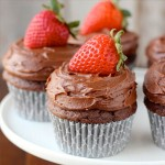 chocolate, strawberry, cupcakes, recipe, frosting, dessert, baking