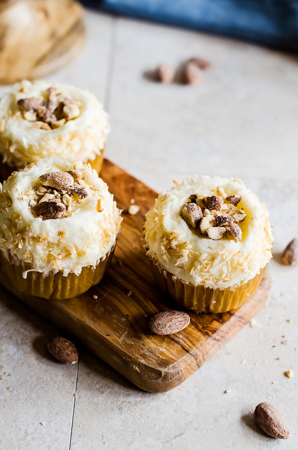 Almond Coconut Cupcakes