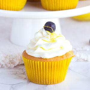 Boozy Blueberry Lemon Cupcakes
