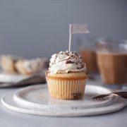 Salted Vanilla Truffle Cupcake