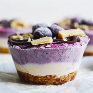 Vegan Blueberry Vanilla Cheesecake Cups