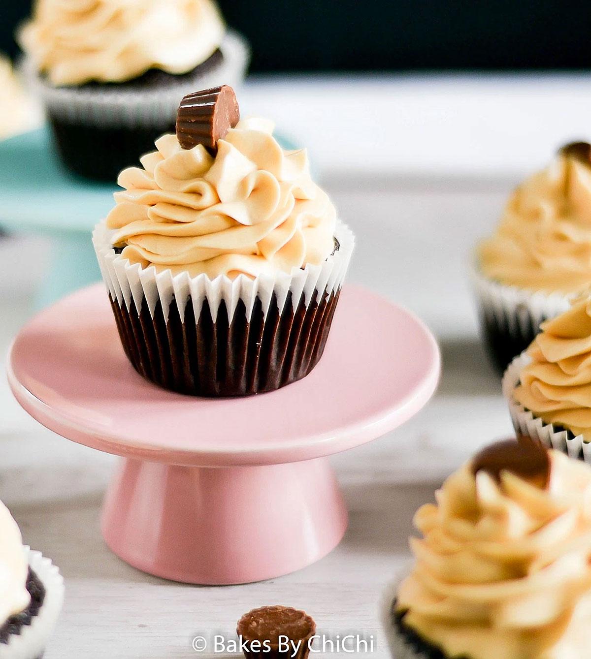 Chocolate Peanut Buttercup Cupcakes