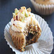 Lemon Blueberry Pistachio Cupcakes