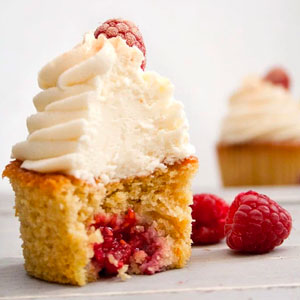 Orange and Raspberry Cupcakes