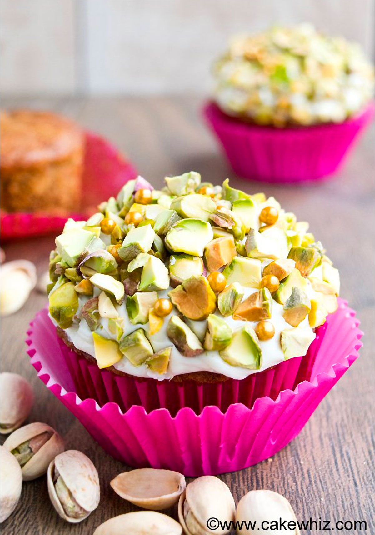 Pistachio Carrot Cupcakes