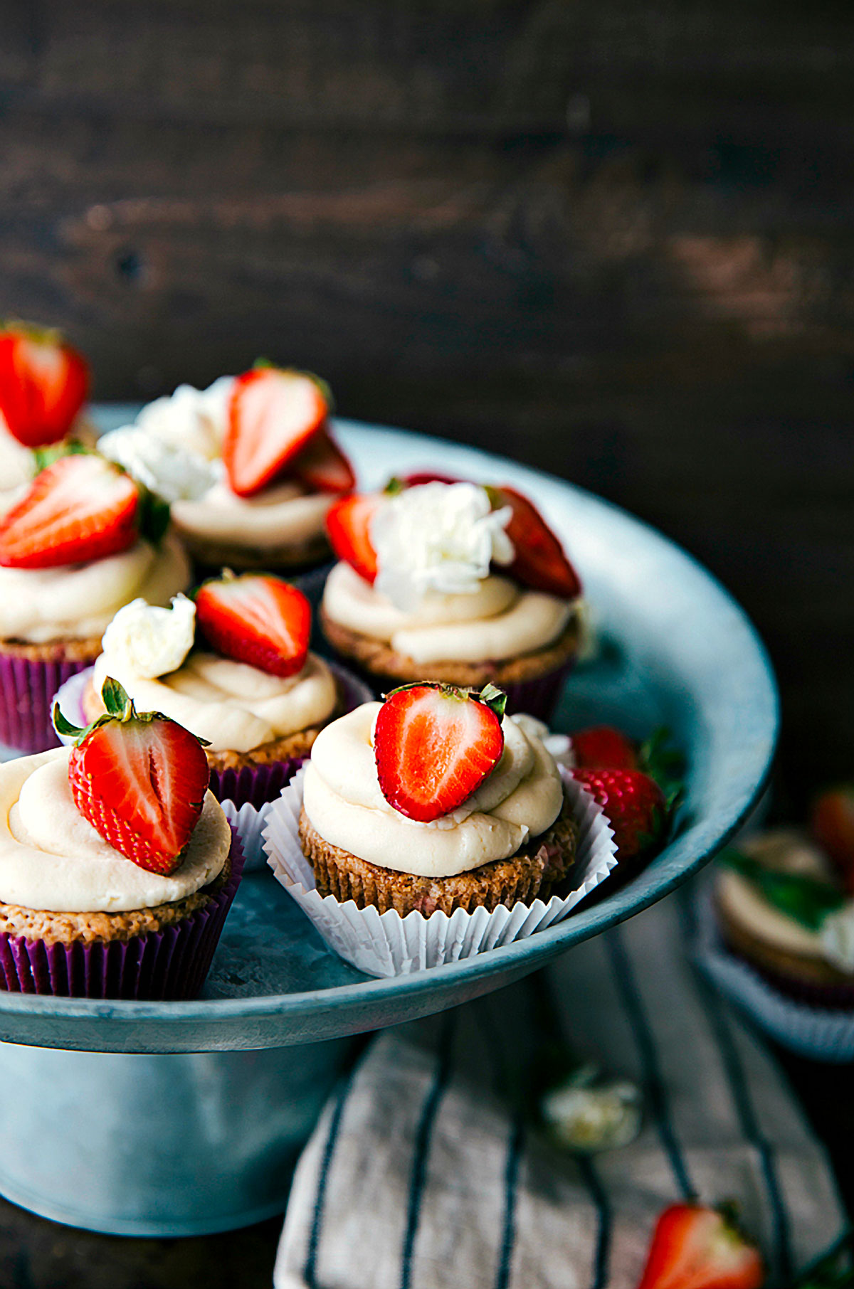Vegan Strawberries and Cream Cupcakes