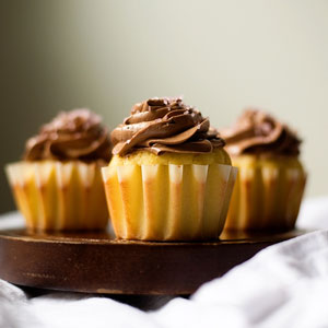 White Wine Cupcakes with Chocolate Buttercream