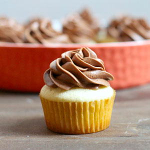 Classic Vanilla Cupcakes with Chocolate Frosting