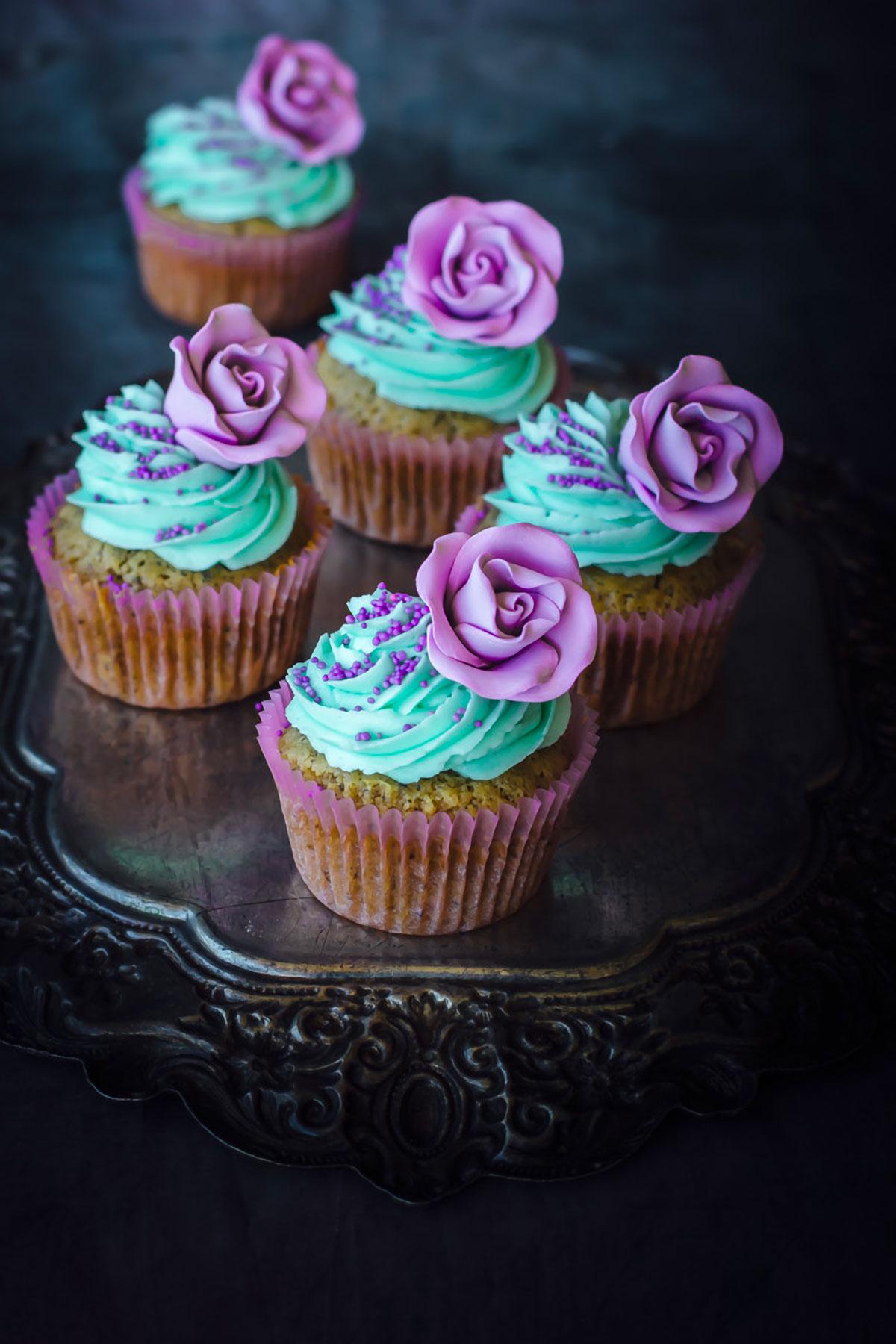 Earl Grey Cupcakes With Orange Buttercream