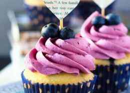 Lemon Blueberry Cupcakes with Blueberry Buttercream