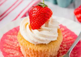 Strawberry and White Chocolate Cupcakes