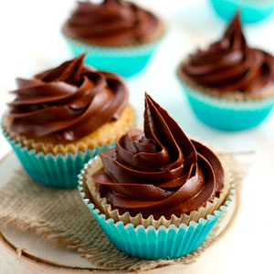 Gluten Free Vanilla Cupcakes with Chocolate Frosting