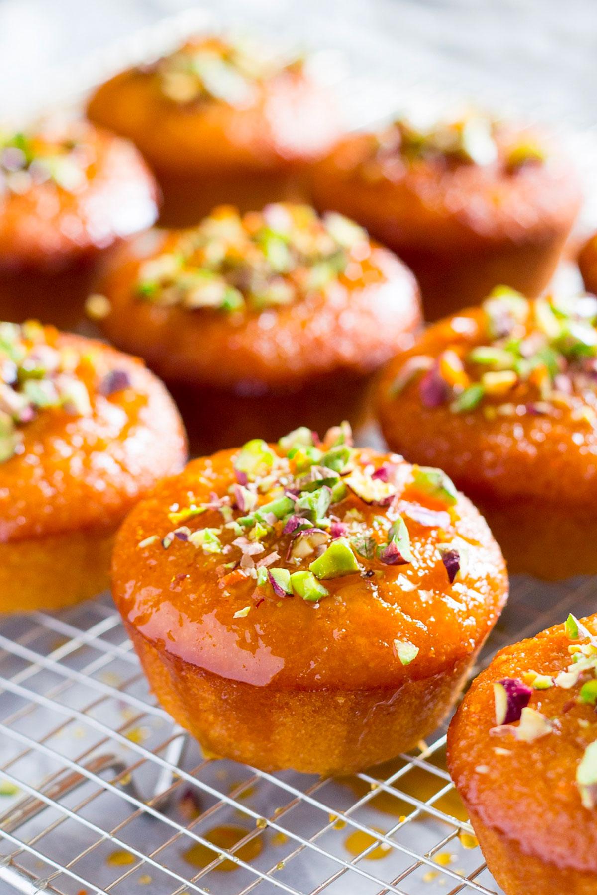 Orange Semolina Cupcakes