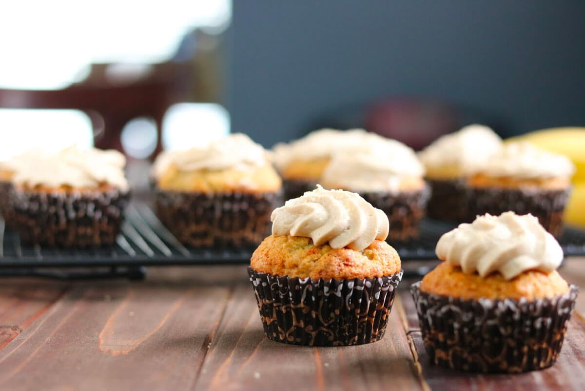 Banana Cupcakes with Brown Sugar Buttercream