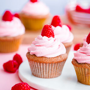 Roasted Raspberry Cupcakes