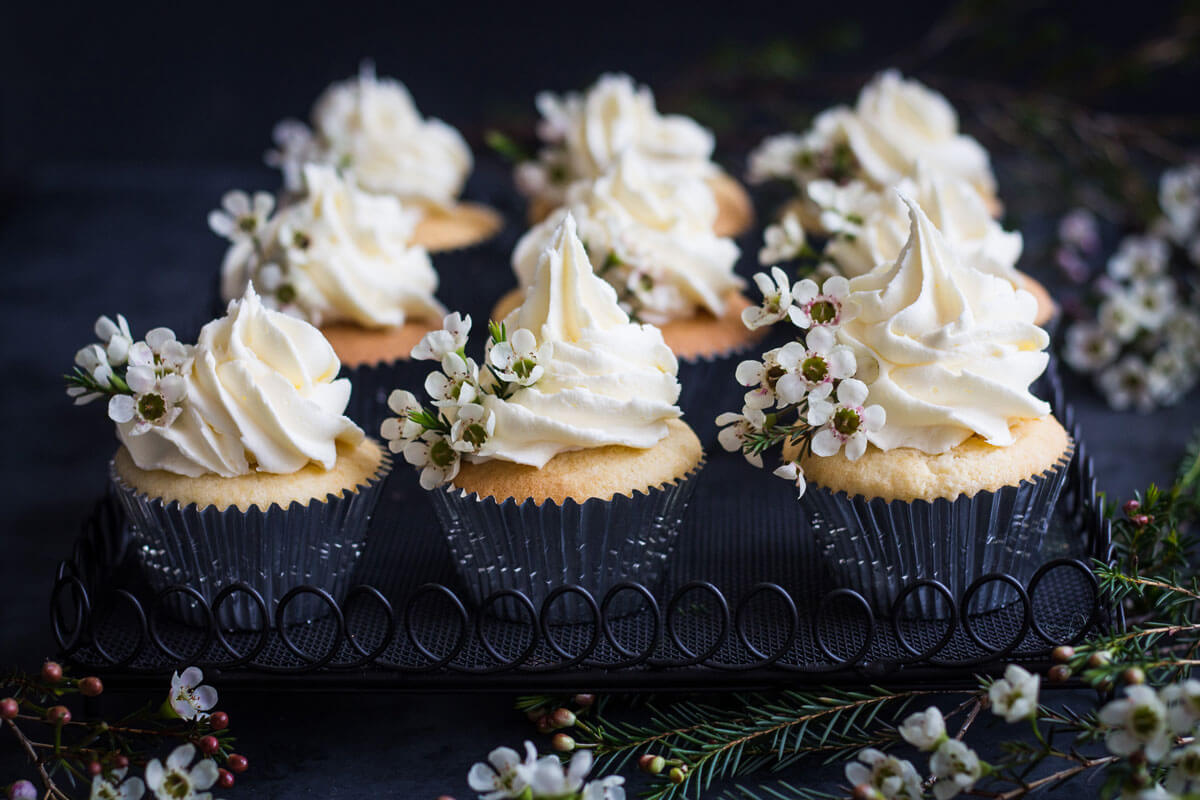 Vanilla Cupcakes with Buttercream Frosting Gluten Free