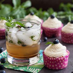 Blueberry Mojito Cupcakes