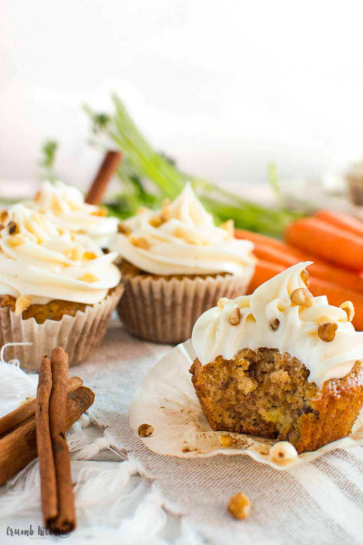Spiced Carrot Cake Cupcakes