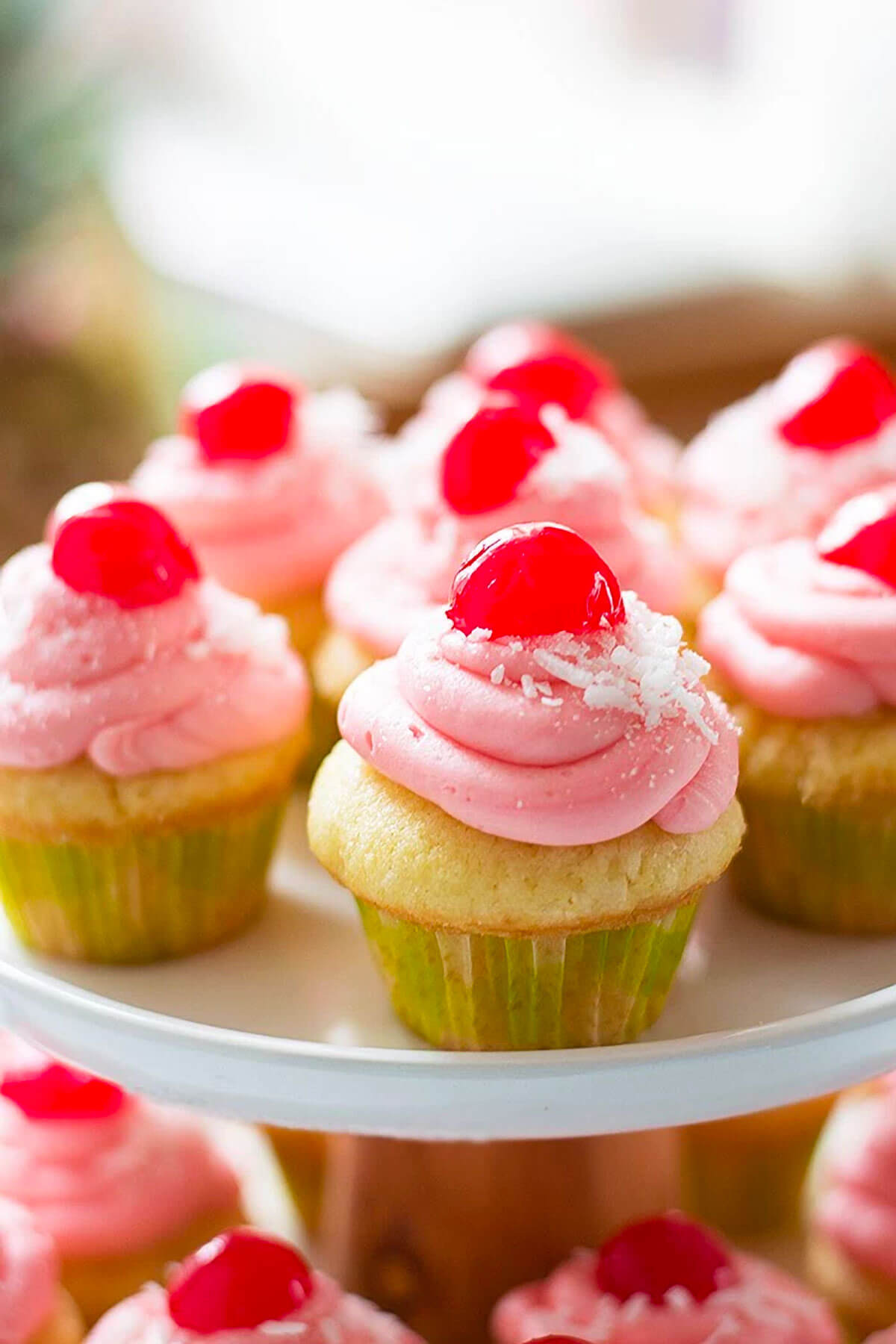 Cherry Coconut Cupcakes