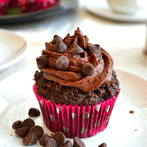 Gluten-Free Chocolate Cupcakes With Whipped Chocolate Ganache