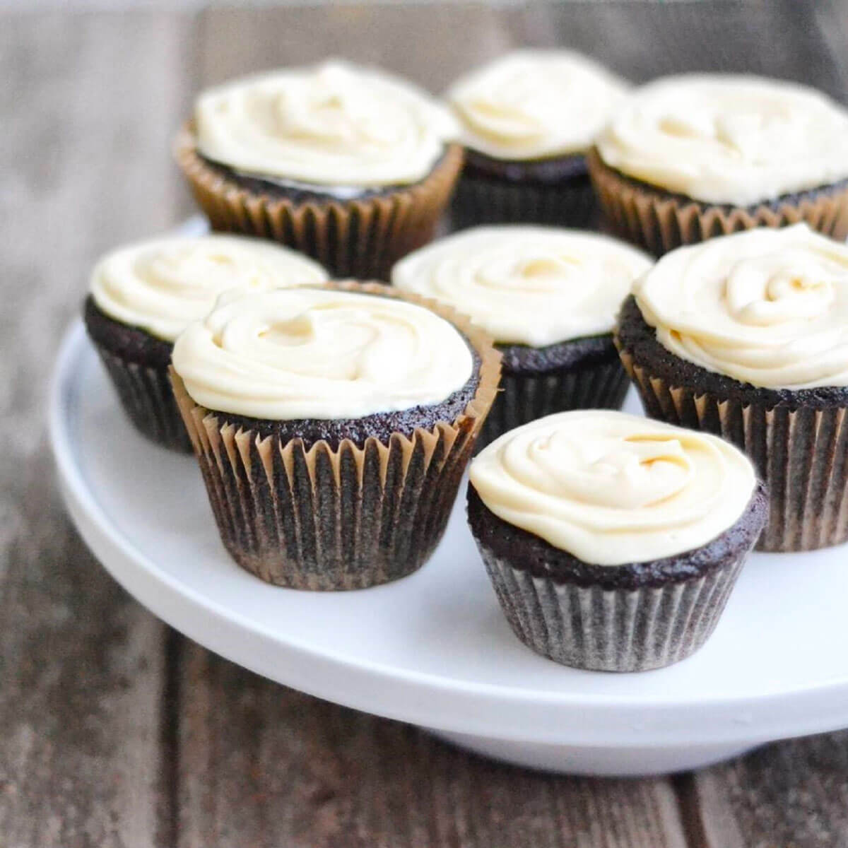 Stout Cupcakes with Baileys Cream Cheese Icing