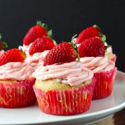 Strawberry Filled Cupcakes