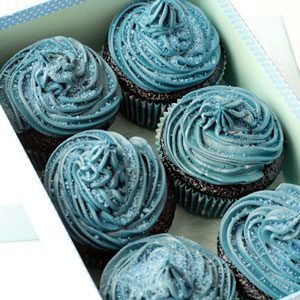 Midnight Blue Velvet Cupcakes