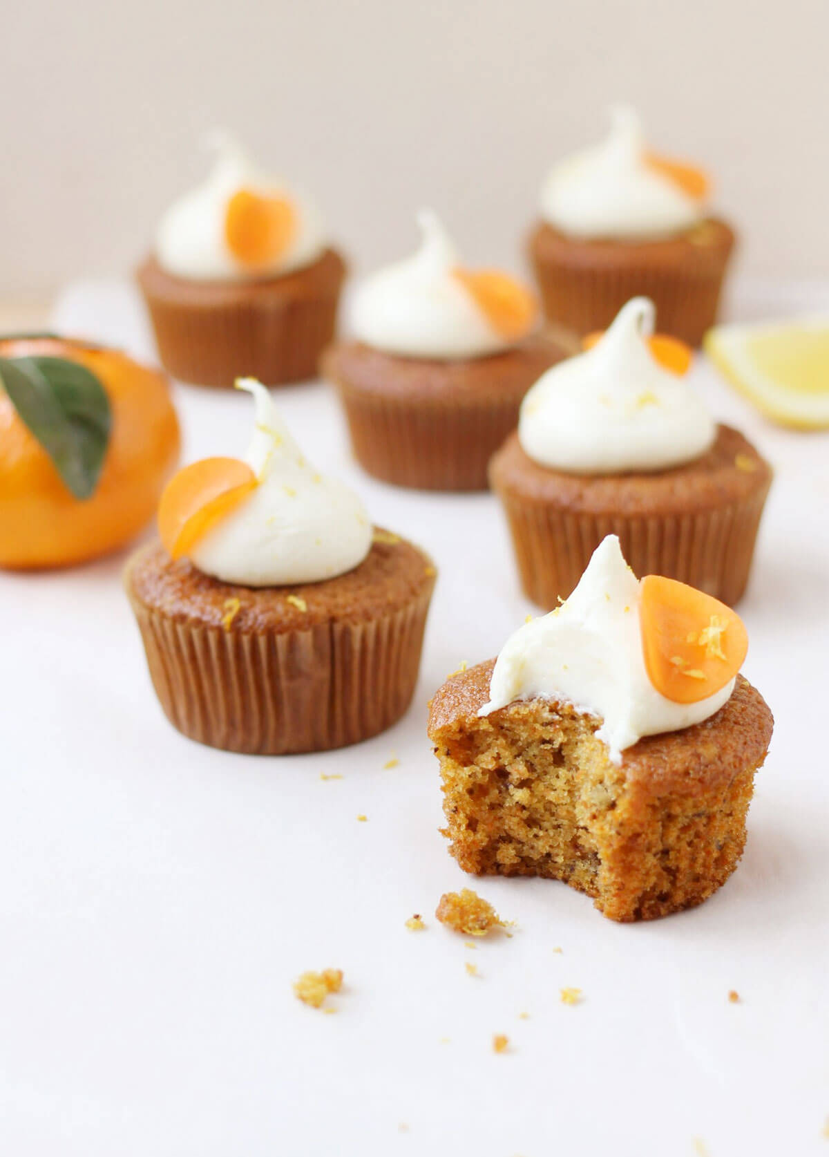 Orange and Carrot Cupcakes