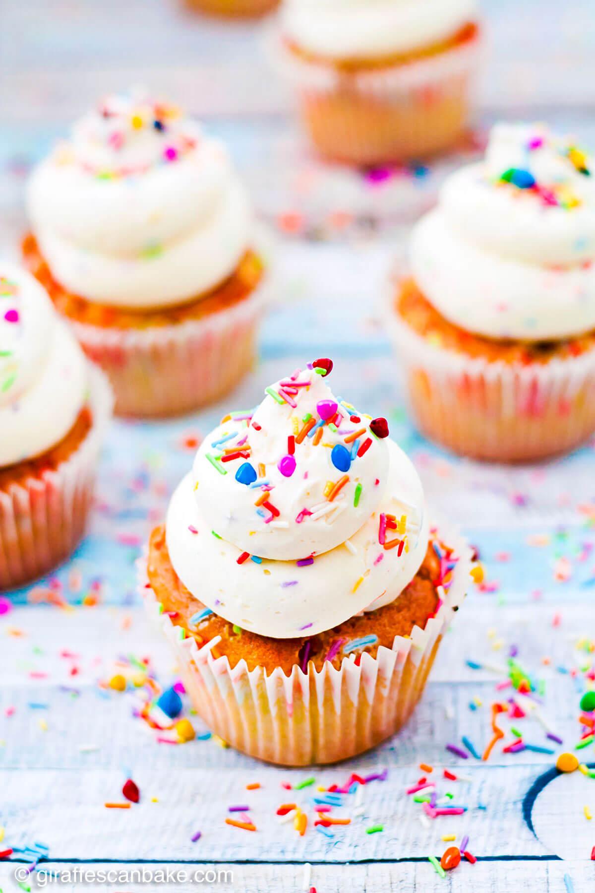 Gluten Free Funfetti Cupcakes