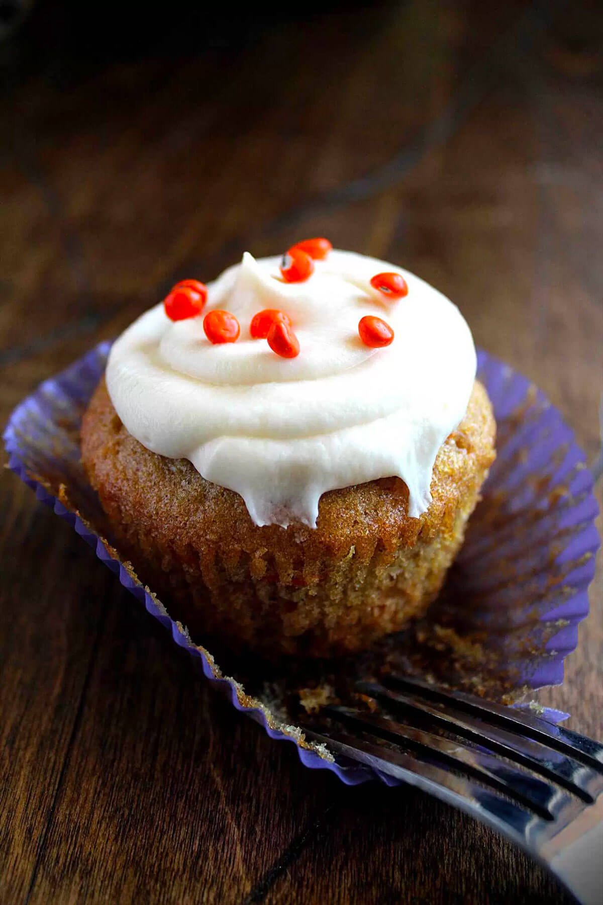 Secret Ingredient Carrot Cupcakes with Cream Cheese Frosting