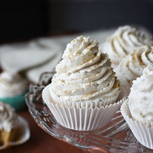 Banana Cupcakes with Coconut Frosting