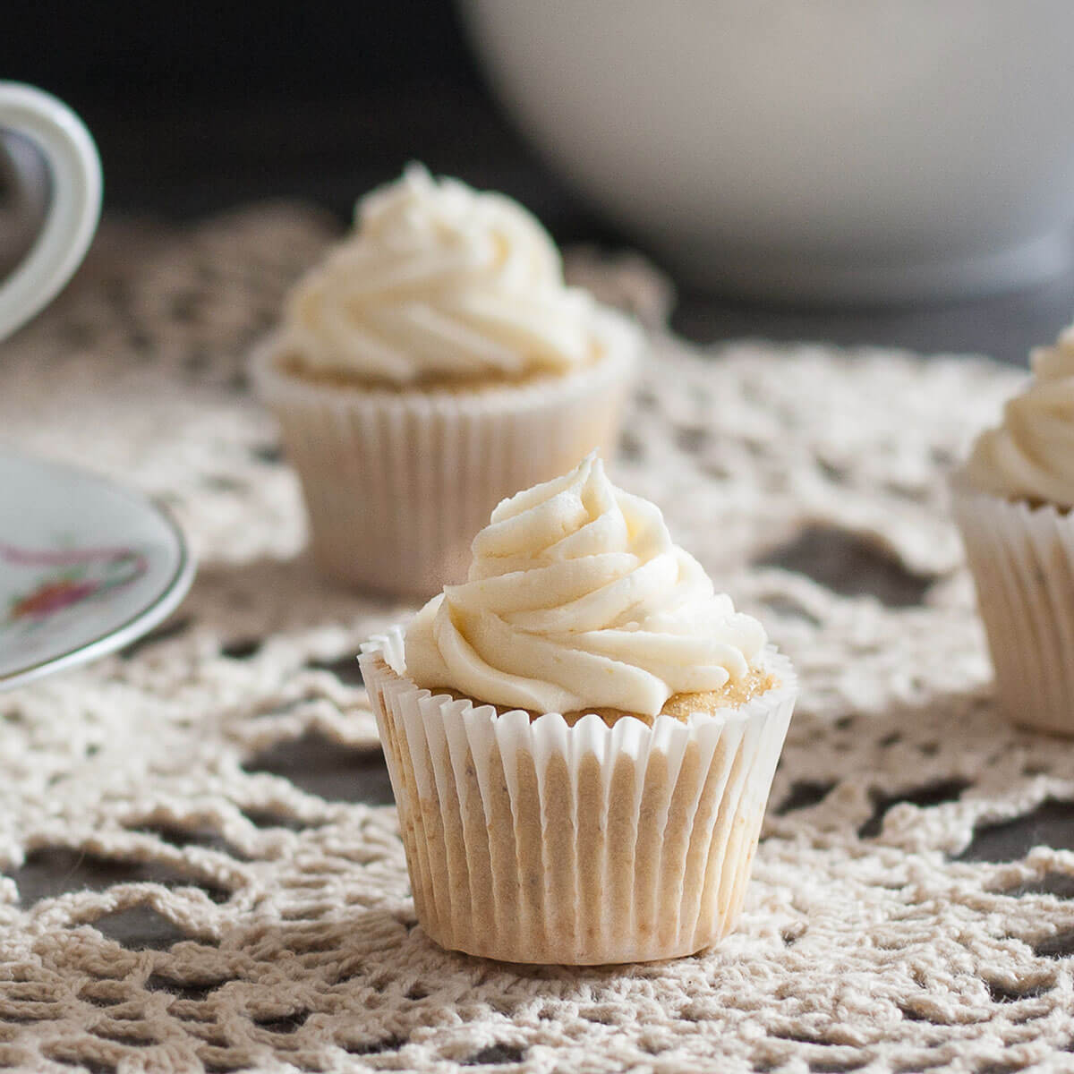 Earl Grey Cupcakes With Honey Buttercream Frosting