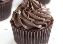 Flourless Mexican Chocolate Cupcakes