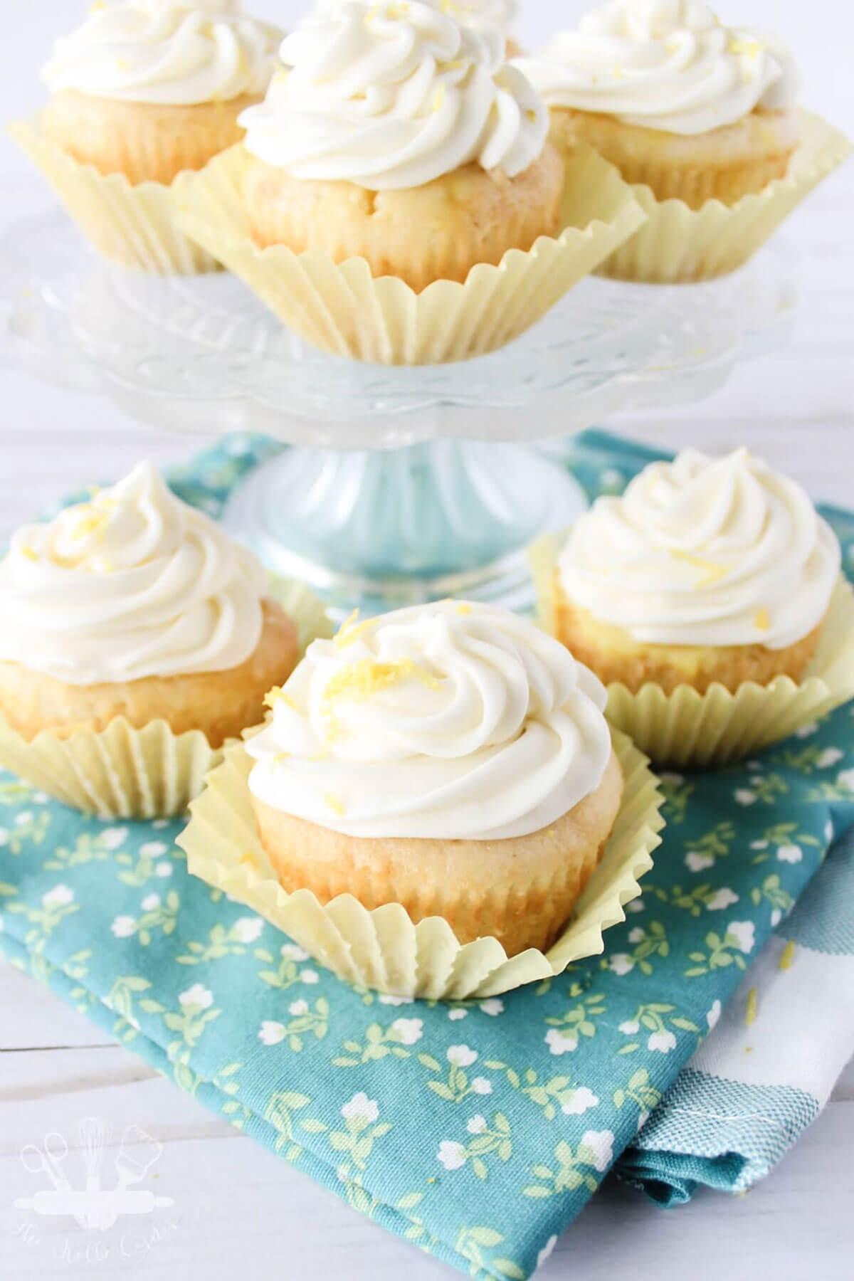 Lemon Poke Cupcakes