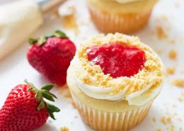 Strawberry Pie Cupcakes