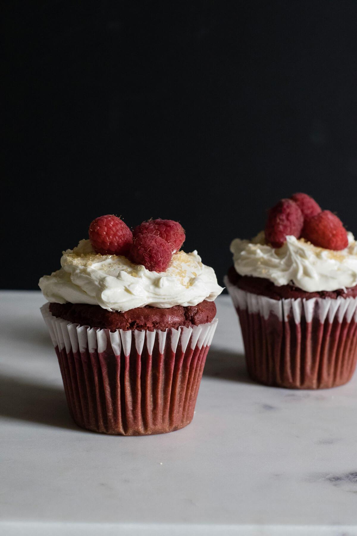 Beet Red Velvet Cupcakes