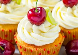 Cherry and Lime Cupcakes