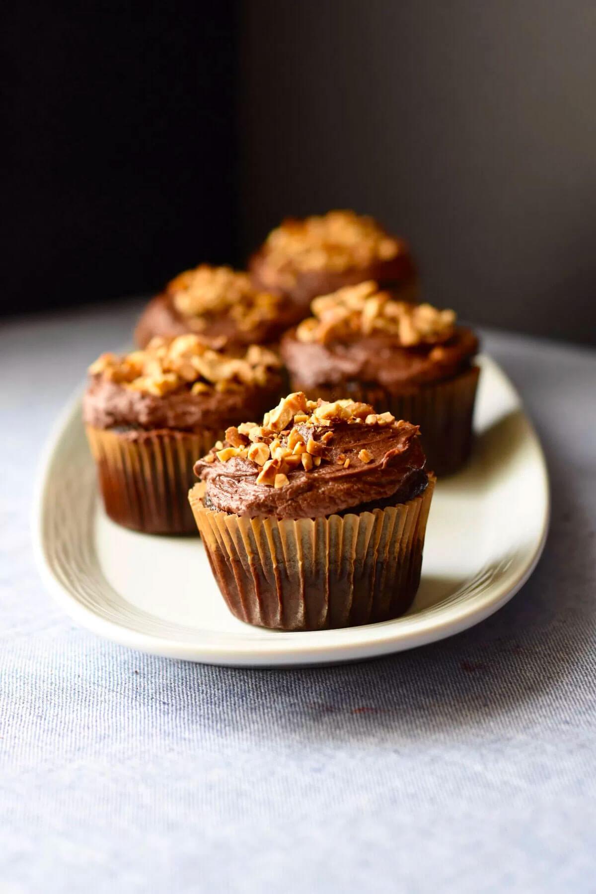 Chocolate Hazelnut Cupcakes