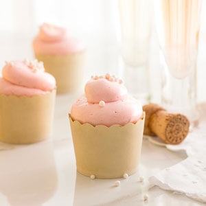 Vanilla Bean & Almond Cupcakes with Roasted Raspberry Swiss Meringue Buttercream